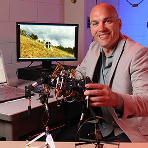 Prof. Mark Costello in his lab